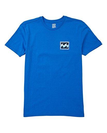 0 Boys' Fifty Wave Short Sleeve T-Shirt Blue B404WBFW Billabong