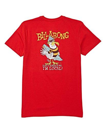 1 Boys' Local Short Sleeve T-Shirt Red B404WBLO Billabong