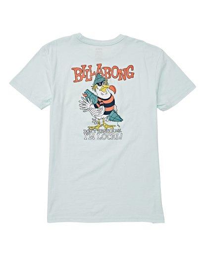 1 Boys' Local Short Sleeve T-Shirt Blue B404WBLO Billabong