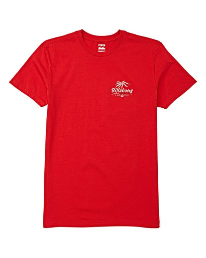 0 Boys' Club Short Sleeve T-Shirt Red B404WBPH Billabong