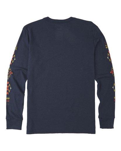 2 Boys' Dbah Long Sleeve T-Shirt Blue B4053BDB Billabong