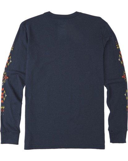 1 Boys' Dbah Long Sleeve T-Shirt Blue B4053BDB Billabong
