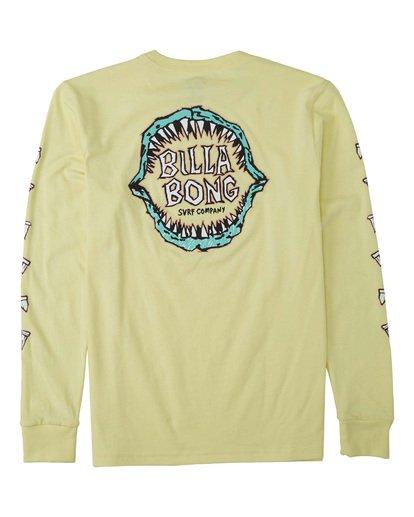 1 Boys' Jaws Long Sleeve T-Shirt Yellow B4053BJA Billabong