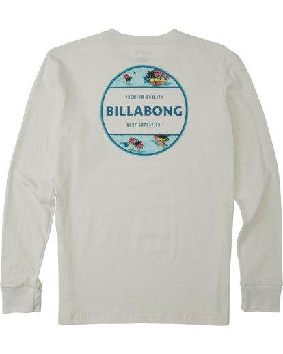 1 Boys' Rotor Long Sleeve T-Shirt White B4053BRO Billabong
