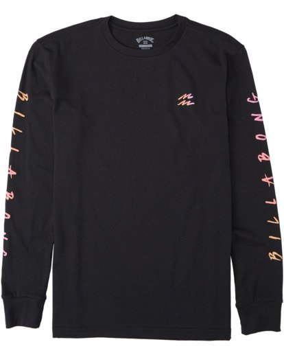 0 Boys' Unite Long Sleeve T-Shirt Black B4053BUT Billabong
