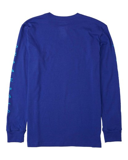 1 Boys' Unite Long Sleeve T-Shirt Blue B4053BUT Billabong