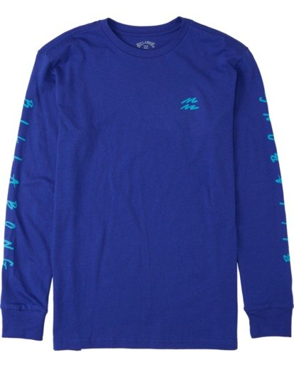 0 Boys' Unite Long Sleeve T-Shirt Blue B4053BUT Billabong