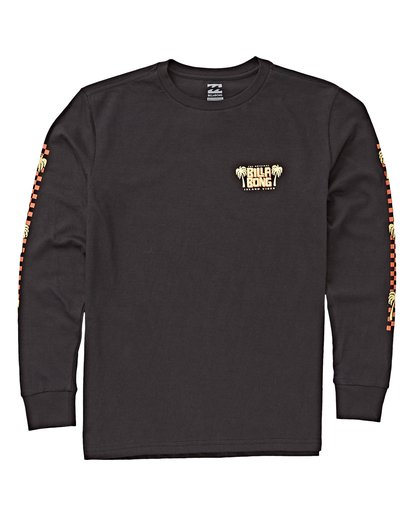 0 Boys' Calypso Long Sleeve T-Shirt Black B405VBCA Billabong