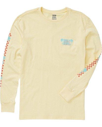 2 Boys' Calypso Long Sleeve T-Shirt Yellow B405VBCA Billabong
