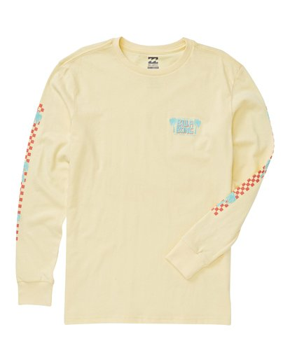 1 Boys' Calypso Long Sleeve T-Shirt Yellow B405VBCA Billabong