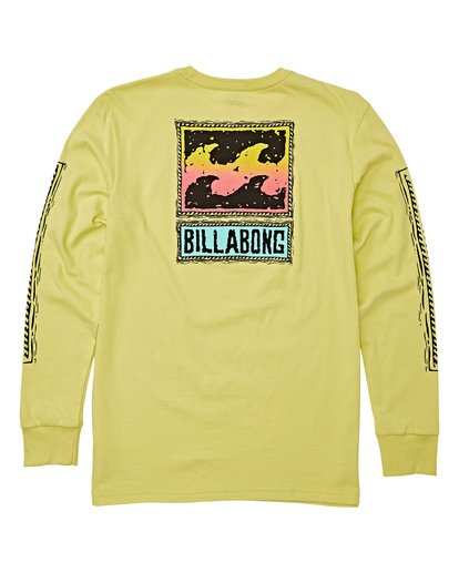 1 Boys' Fifty Wave Long Sleeve T-Shirt Green B405WBFW Billabong