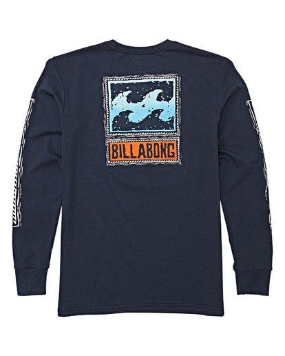 2 Boys' Fifty Wave Long Sleeve T-Shirt Blue B405WBFW Billabong