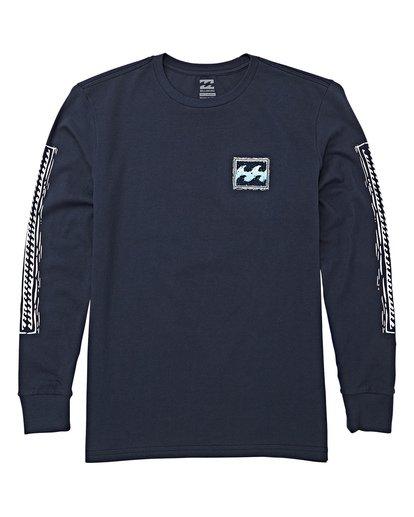 0 Boys' Fifty Wave Long Sleeve T-Shirt Blue B405WBFW Billabong