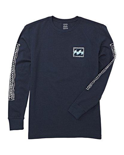 1 Boys' Fifty Wave Long Sleeve T-Shirt Blue B405WBFW Billabong