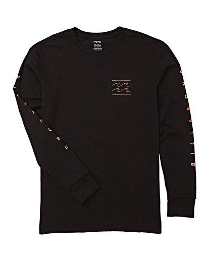 1 Boys' Unity Long Sleeve T-Shirt Black B405WBUN Billabong
