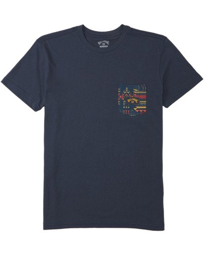 0 Boys' Team Pocket T-Shirt Blue B4333BTE Billabong