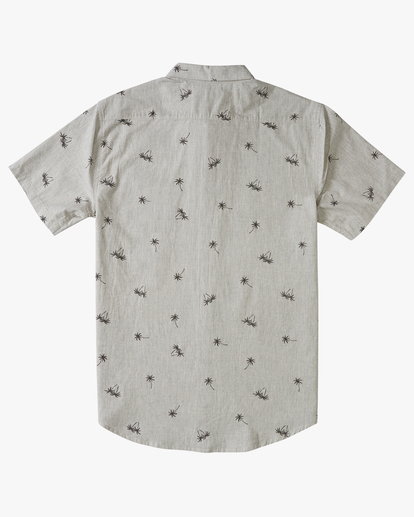 1 Boys' Sundays Mini Short Sleeve Shirt Grey B5033BSM Billabong