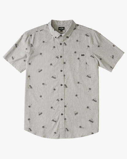 0 Boys' Sundays Mini Short Sleeve Shirt Grey B5033BSM Billabong