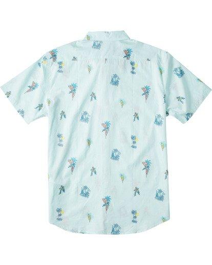 1 Boys' Sundays Mini Short Sleeve Shirt Green B5033BSM Billabong