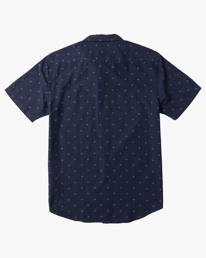 1 Boys' All Day Jacquard Short Sleeve Shirt Blue B5073BSJ Billabong
