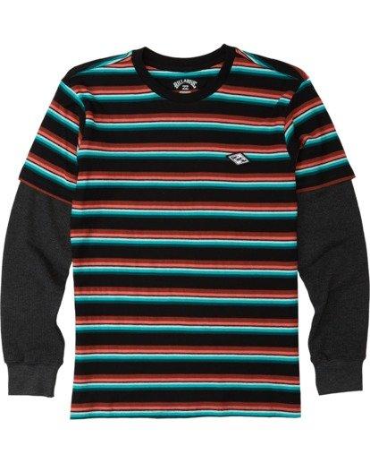 0 Boys' Die Cut Twofer Shirt Black B9053BTW Billabong