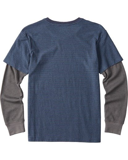 1 Boys' Die Cut Twofer Shirt Blue B9053BTW Billabong