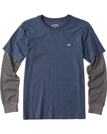 0 Boys' Die Cut Twofer Shirt Blue B9053BTW Billabong