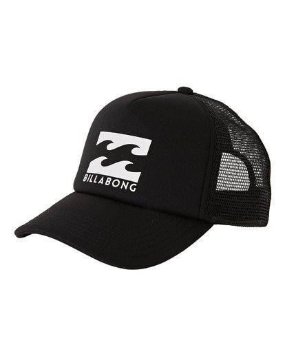 0 Boys' Podium Trucker Hat Black BAHTGPOD Billabong
