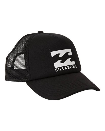 2 Boys' Podium Trucker Hat Black BAHTGPOD Billabong