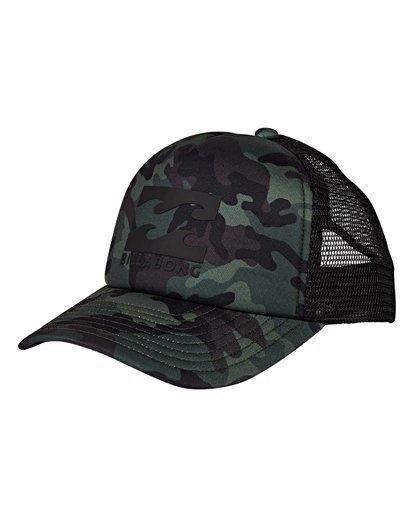0 Boys' Podium Trucker Hat Camo BAHTGPOD Billabong