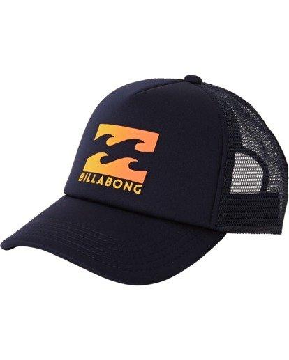 1 Boys' Podium Trucker Hat Blue BAHTGPOD Billabong