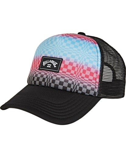 1 Boys' Stage Trucker Hat Black BAHW2BST Billabong