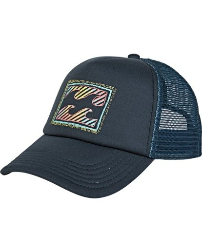 1 Boys' Stage Trucker Hat Blue BAHW2BST Billabong