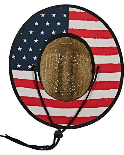3 Boys' Tides Print Americana Hat Blue BAHW2BTA Billabong