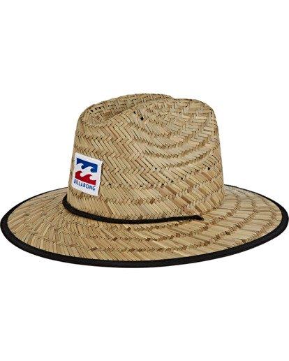 1 Boys' Tides Print Americana Hat Blue BAHW2BTA Billabong