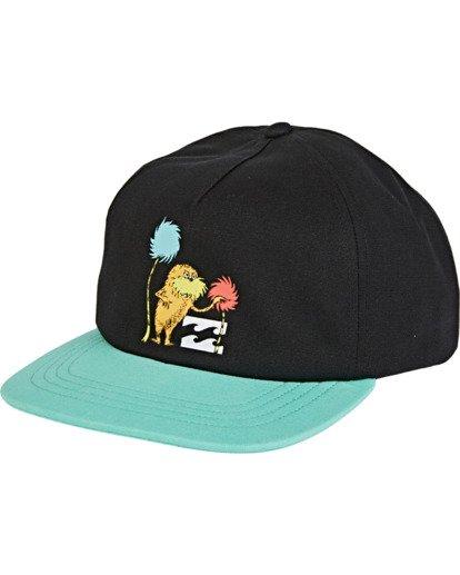 1 Boys' Truffula Snapback Hat Black BAHW2BTR Billabong