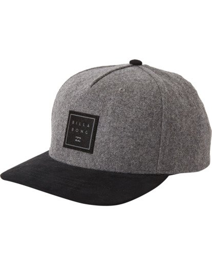 1 Boys' Stacked Up Snapback Hat Grey BAHW3BSU Billabong