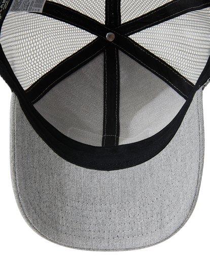 4 Boys' Walled Trucker Hat Grey BAHW3BWA Billabong