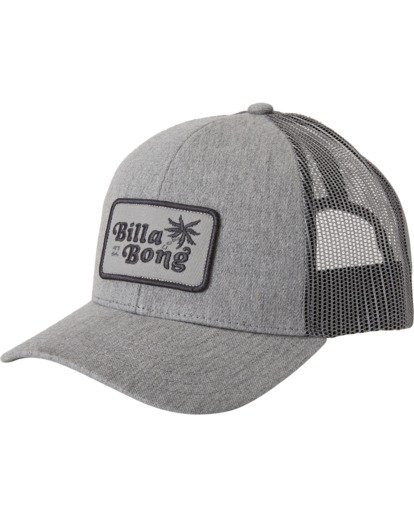 1 Boys' Walled Trucker Hat Grey BAHW3BWA Billabong