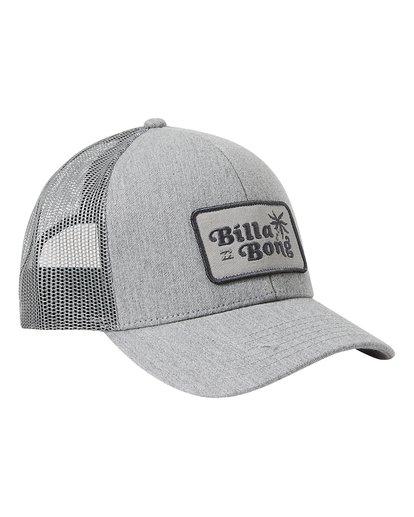 2 Boys' Walled Trucker Hat Grey BAHW3BWA Billabong
