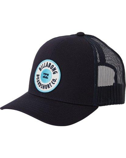 1 Boys' Walled Trucker Hat Blue BAHW3BWA Billabong