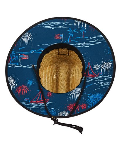 4 Boys' Tides Print Hat Blue BAHWTBTB Billabong