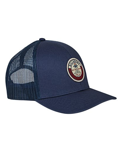 2 Boys' Walled Trucker Hat Blue BAHWVBWA Billabong