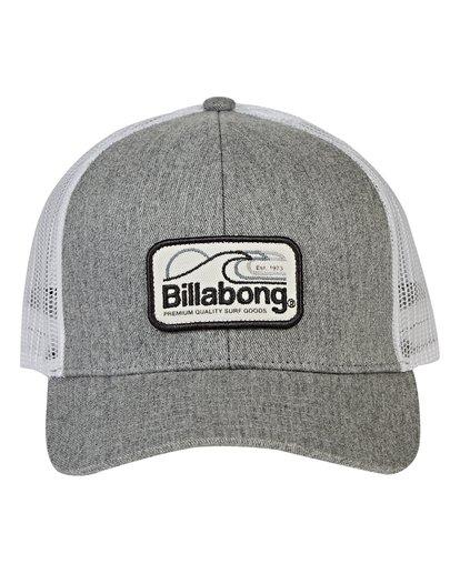 1 Boys' Walled Trucker Hat Grey BAHWVBWA Billabong