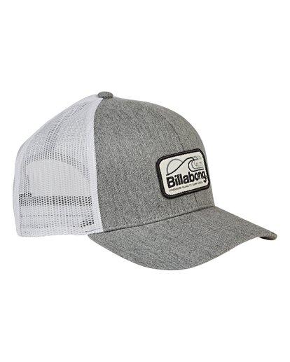2 Boys' Walled Trucker Hat Grey BAHWVBWA Billabong