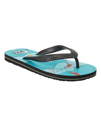 3 Boys' One Fish Two Fish Tides Sandals Blue BFOT3BON Billabong