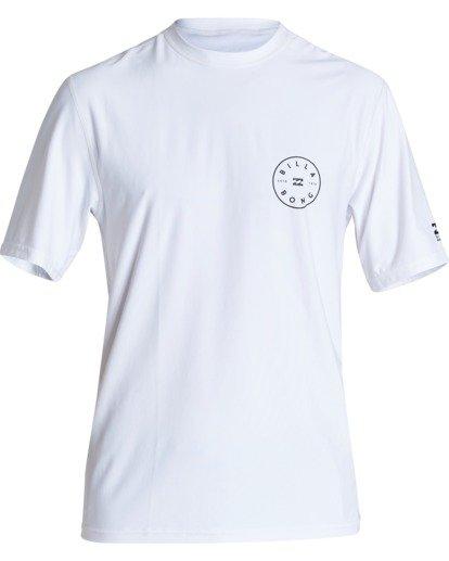 0 Boys' Rotor Loose Fit Short Sleeve Surf Shirt White BR011BRO Billabong