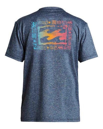 1 Boys' Crayon Wave Loose Fit Short Sleeve Rashguard Blue BR013BCW Billabong