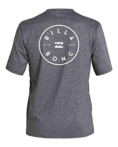 1 Boys' Rotor Loose Fit Short Sleeve Rashguard Grey BR013BRO Billabong