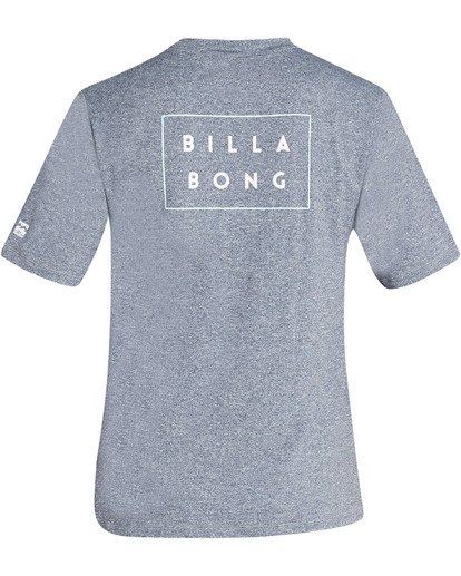 1 Boys' Die Cut Loose Fit Short Sleeve Rashguard Grey BR01TBDC Billabong